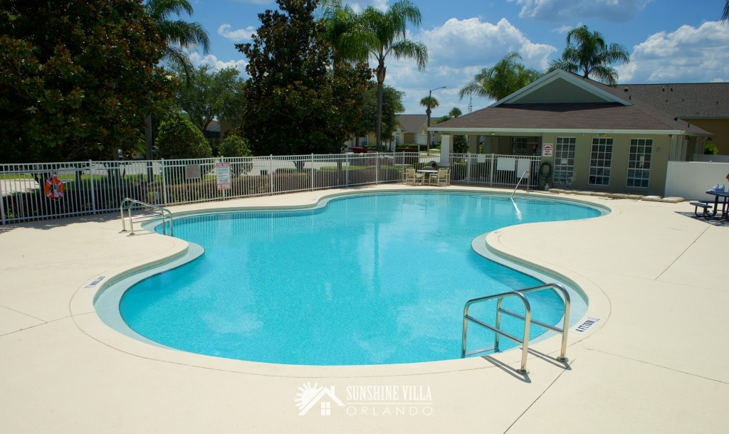 Community Pool in Glenbrook Resort in Clermont, Florida near Walt Disney World in Orlando