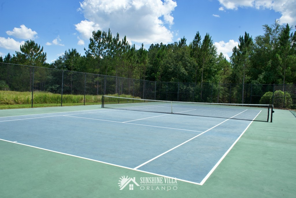 Tennis Court in Glenbrook Resort in Clermont, Florida near Orlando