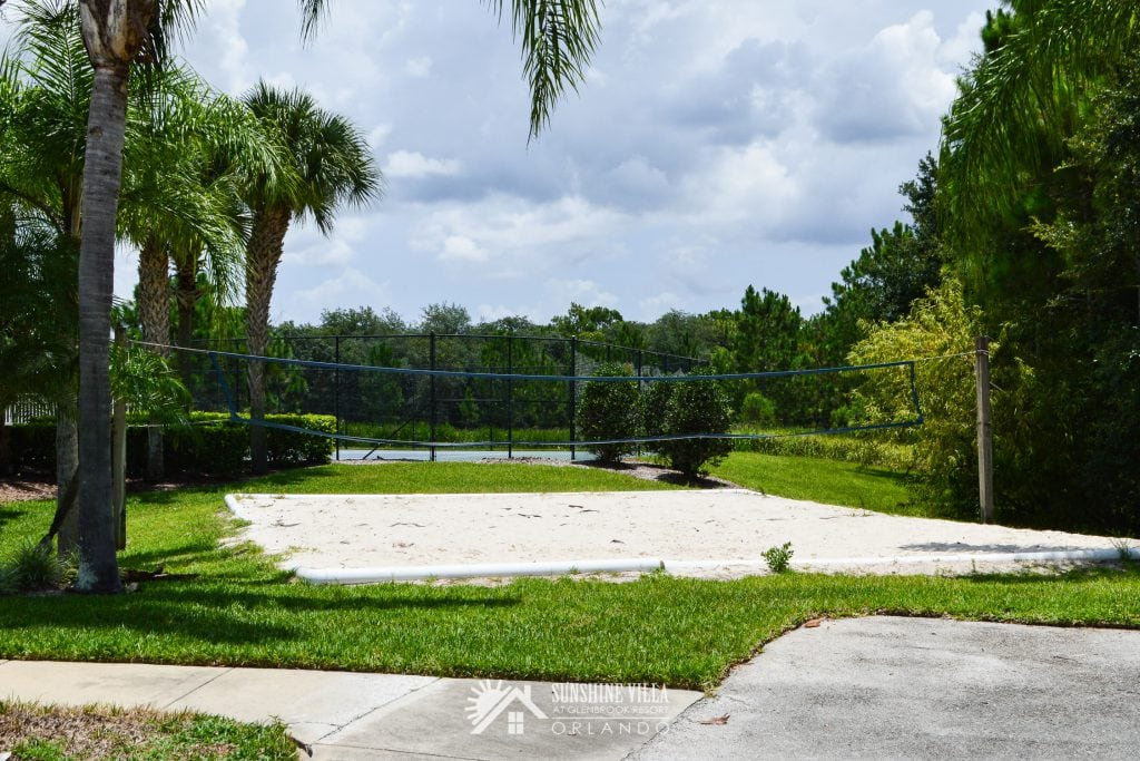 Sand Volleyball Court at Glenbrook Resort near Orlando, Florida