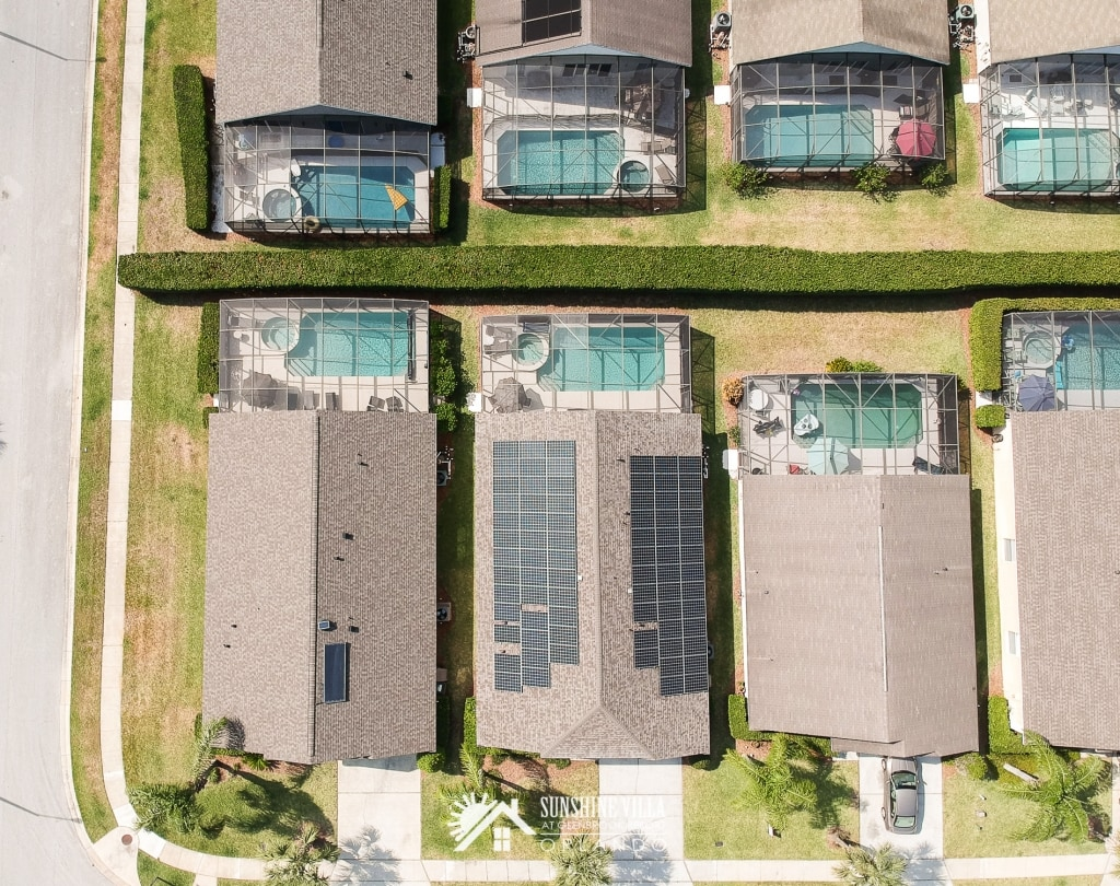 Sunshine Villa at Glenbrook Resort runs on sunshine from solar panels installed on the roof.