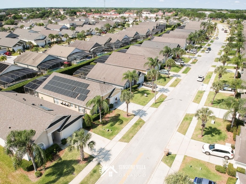 Solar Panels on the Roof at Sunshine Villa at Glenbrook Resort